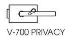 Zámek SQUARE privat/chrom perla (V-700 P/CP)