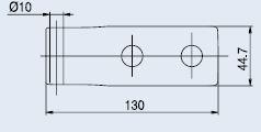 Horizontální pant FERRARI lesklý chrom (V-401 FERRARI 2TLG/CR)