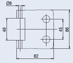Vertikální pant FERRARI matný chrom (V-402 FERRARI 3TLG/CS)