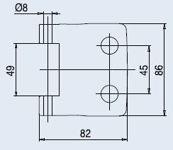Vertikální pant FERRARI lesklý chrom (V-402 FERRARI 3TLG/CR)