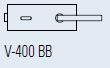 Zámek FERRARI BB/matný chrom (V-400 FERRARI BB/CS)