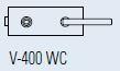 Zámek FERRARI WC/matný nikl (V-400 FERRARI WC/NS)