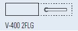 Zámek FERRARI 2FLG/matný nikl (V-400 FERRARI 2FLG/NS)
