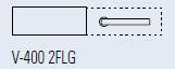 Zámek FERRARI 2FLG/lesklý chrom (V-400 FERRARI 2FLG/CR)