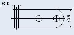 Horizontální pant V-201 ECO stříbrný hliník (V-201 ECO 2TLG AN)