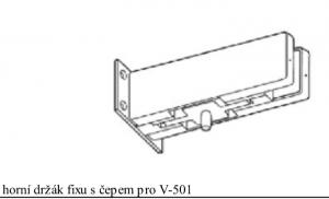 Držák fixu s čepem V-511 matná nerez (V-511 IX)