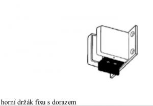 Držák fixu s dorazem V-513 matná nerez (V-513 IX)