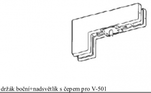 Držák fixu V-508 černá (V-508 BK)